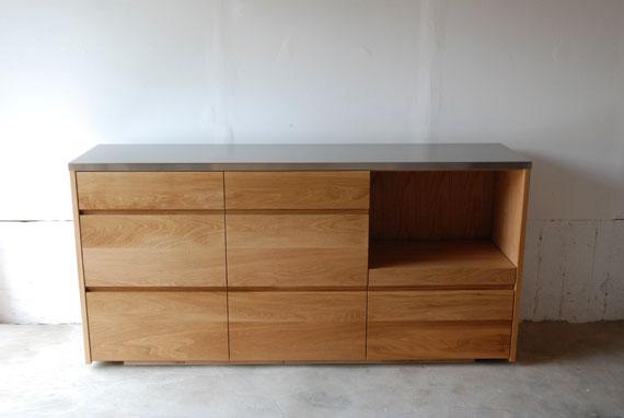 食器棚 スライド棚付きのナラ 5027