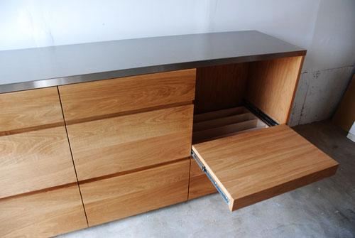 食器棚 スライド棚付きのナラ 5027イメージ-3