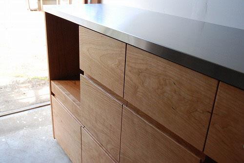 炊飯器やゴミ箱や食器を効率よく収納できるキッチン家具 5033イメージ-2