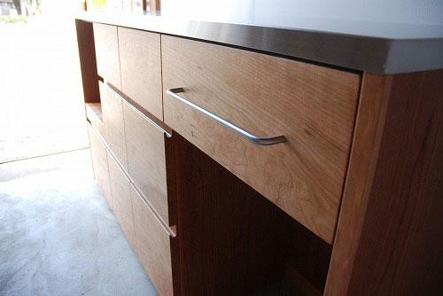 炊飯器やゴミ箱や食器を効率よく収納できるキッチン家具 5033イメージ-3