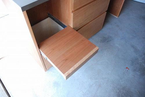 炊飯器やゴミ箱や食器を効率よく収納できるキッチン家具 5033イメージ-5