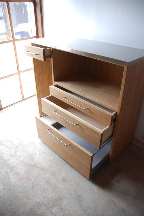 キッチンボード マンションの冷蔵庫脇にちょうどよいサイズ 5034イメージ-2
