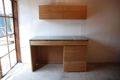 吊戸棚とステンレス天板キッチンボードをナラ材で 5040イメージ-2