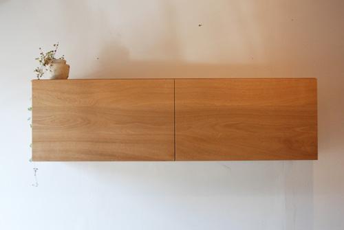 吊戸棚とステンレス天板キッチンボードをナラ材で 5040イメージ-4