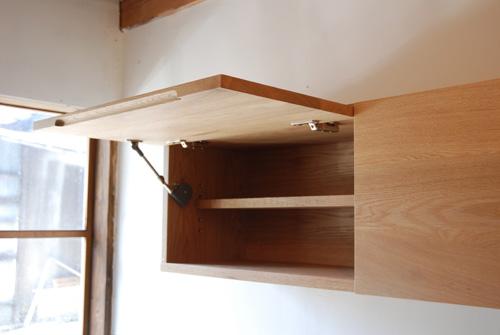 吊戸棚とステンレス天板キッチンボードをナラ材で 5040イメージ-6