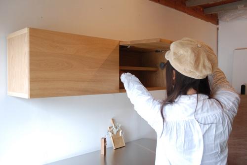 吊戸棚とステンレス天板キッチンボードをナラ材で 5040イメージ-7