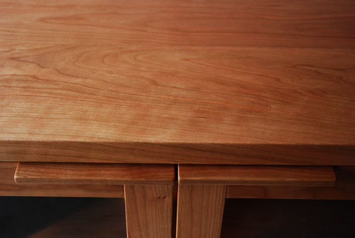 オーダーメイドレンジ台 炊飯器とレンジと酒器の収納 チェリー材 5041イメージ-11