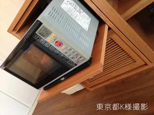 オーダーメイドレンジ台 炊飯器とレンジと酒器の収納 チェリー材 5041イメージ-5