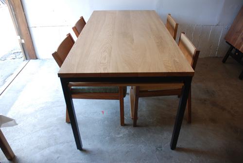 ダイニングテーブル 棚付き/ 4人用 Yチェアのアーム収納 3027イメージ-6
