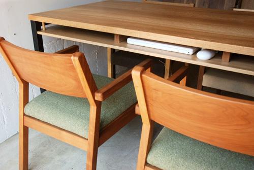 ダイニングテーブル 棚付き/ 4人用 Yチェアのアーム収納 3027イメージ-7
