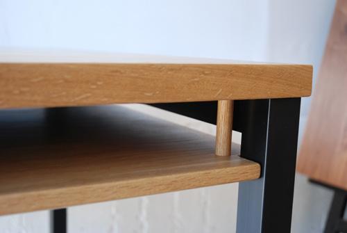 ダイニングテーブル 棚付き/ 4人用 Yチェアのアーム収納 3027イメージ-5