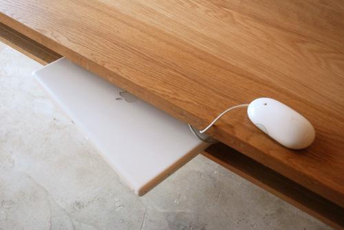 ダイニングテーブル 棚付き/ 4人用 Yチェアのアーム収納 3027イメージ-10