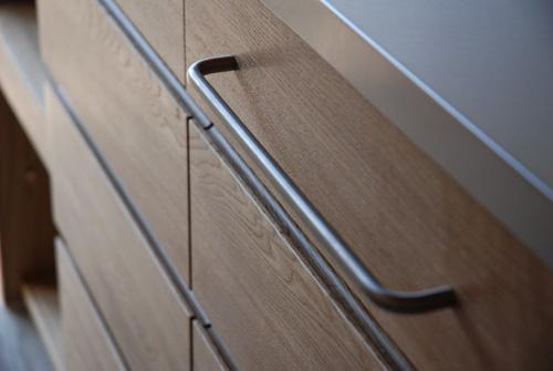 キッチンボード ステンレス天板 バイブレーションサンダーとナラ無垢材 5043イメージ-3