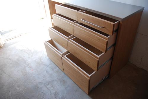 キッチンボード ステンレス天板 バイブレーションサンダーとナラ無垢材 5043イメージ-4