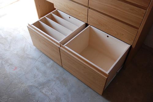 キッチンボード ステンレス天板 バイブレーションサンダーとナラ無垢材 5043イメージ-5