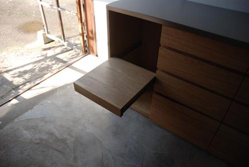 キッチンボード ステンレス天板 バイブレーションサンダーとナラ無垢材 5043イメージ-6