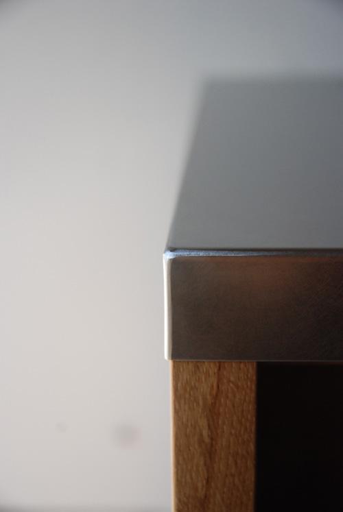 キッチンボード ステンレス天板 バイブレーションサンダーとナラ無垢材 5043イメージ-9