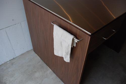 アイランドカウンター・食器棚 ステンレス天板とウォールナット 5045イメージ-3