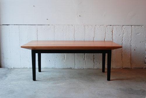 ローテーブル クロス形状スチール黒脚 614