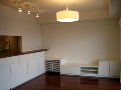 キッチンカウンター下収納と食器棚 リビングボード c5012