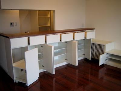 キッチンカウンター下収納と食器棚 リビングボード c5012イメージ-1