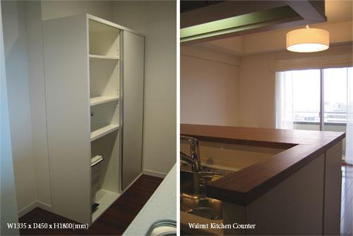 キッチンカウンター下収納と食器棚 リビングボード c5012イメージ-4
