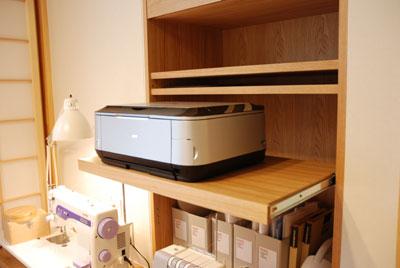 オーダーデスクカウンターとミシン台と収納 c5018イメージ-4