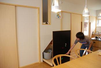 階段下収納にもなるマグネットボード c5025イメージ-5