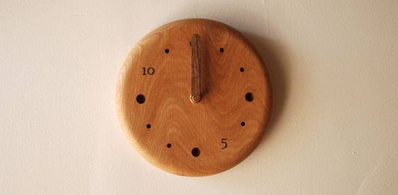 無垢の木の時計 8009イメージ-14