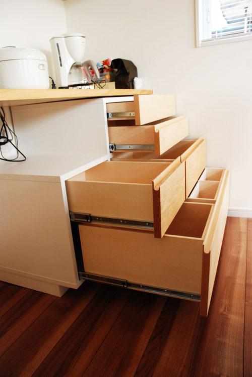 造作家具食器棚 引出し式 c5043イメージ-2