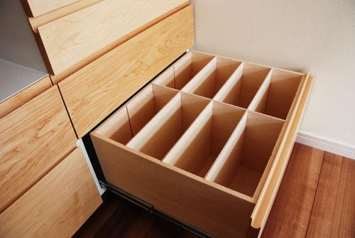 造作家具食器棚 引出し式 c5043イメージ-3