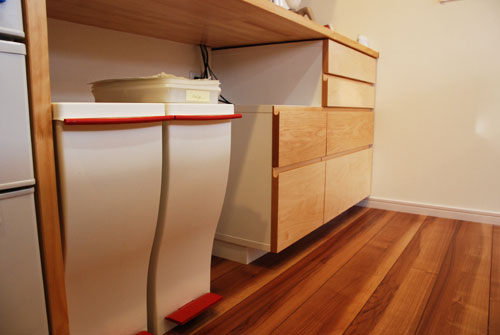 造作家具食器棚 引出し式 c5043イメージ-4