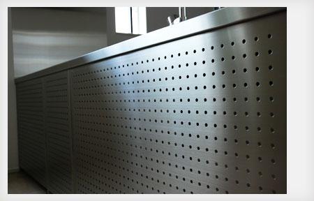 オールステンレスキッチン パンチングステンレスパネル 5017イメージ-3