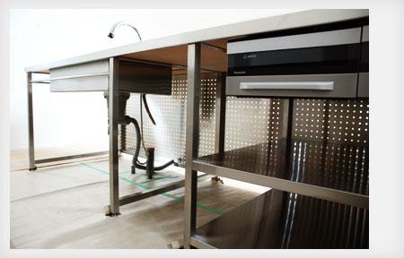 オールステンレスキッチン パンチングステンレスパネル 5017イメージ-5