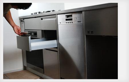 360度ステンレスの塊 最初から傷をつけたような手作りのキッチン 5028イメージ-8