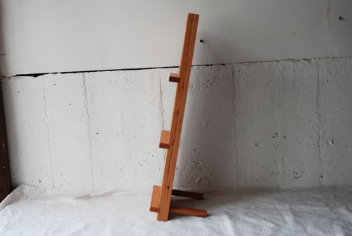CDラック 無垢一枚板の三連 8017イメージ-2