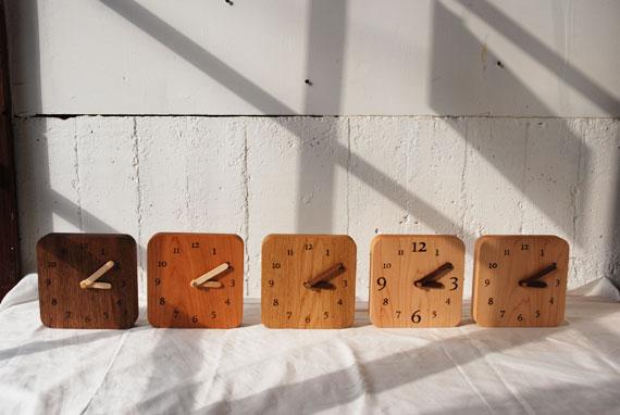 無垢の木の時計 8009イメージ-10