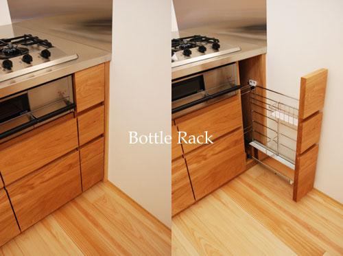 オーダーキッチン リビング収納と一体になった木の家具のような 5025イメージ-10