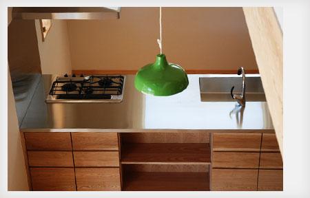 オーダーキッチン リビング収納と一体になった木の家具のような 5025イメージ-4