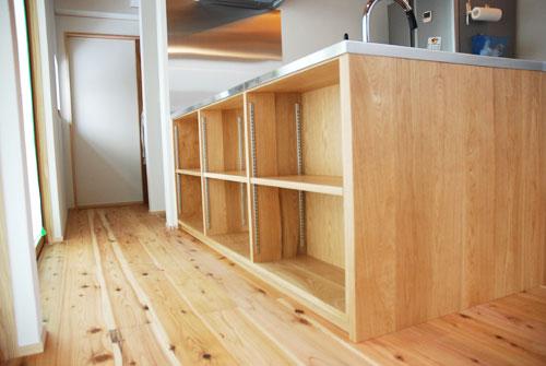 オーダーキッチン 本棚付きナラ材製 5031イメージ-3