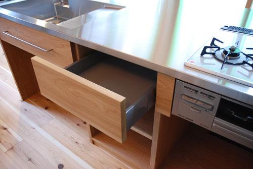 オーダーキッチン 本棚付きナラ材製 5031イメージ-5