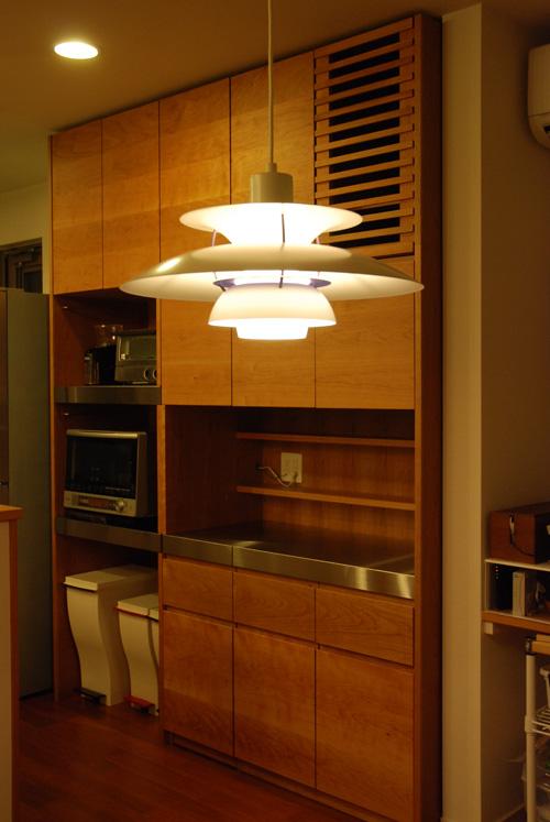 カップボード・食器棚 ステンレストップとチェリー材 5044イメージ-4