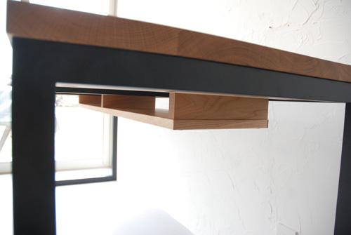 棚付きデスク 180cm x 65cm ホワイトオーク材 3028イメージ-5