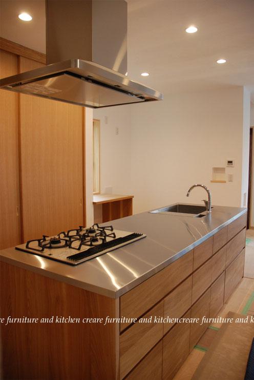 オーダーメードキッチン ガゲナウ食洗機とナラの木とステンレス 630イメージ-4