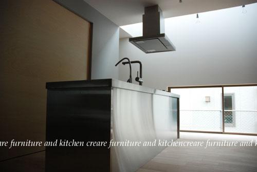 ステンレスオーダーキッチン 110cmの大きなシンクとドロップインコンロ 643イメージ-1