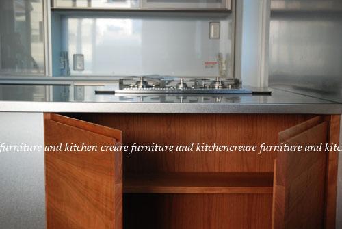 段付きシンクの対面キッチン バイブレーションサンダー仕上のステンレス 654イメージ-3