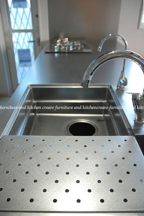 段付きシンクの対面キッチン バイブレーションサンダー仕上のステンレス 654イメージ-6