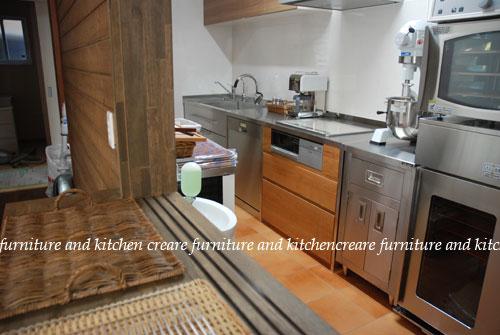 ステンレスキッチン パン教室の厨房 678イメージ-3