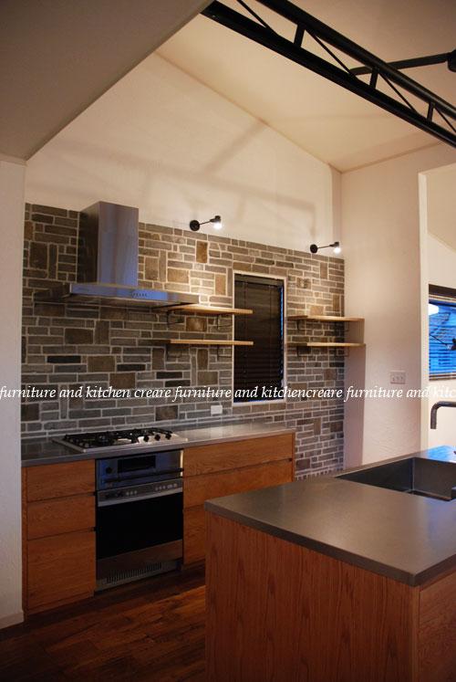 セパレートキッチン ステンレスとオーク材 702イメージ-2
