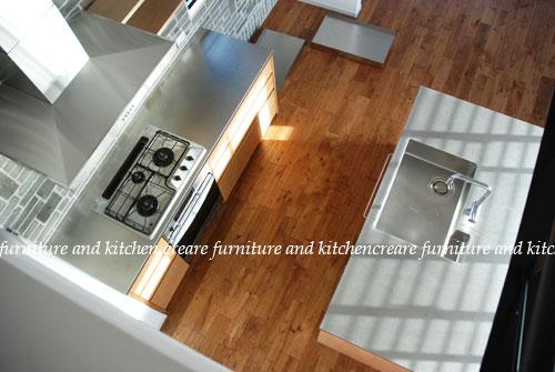 セパレートキッチン ステンレスとオーク材 702イメージ-1